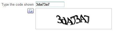 Web page elements for QA: HTML security captcha