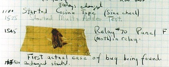 First software bug in history