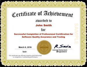 Professional QA Certificate